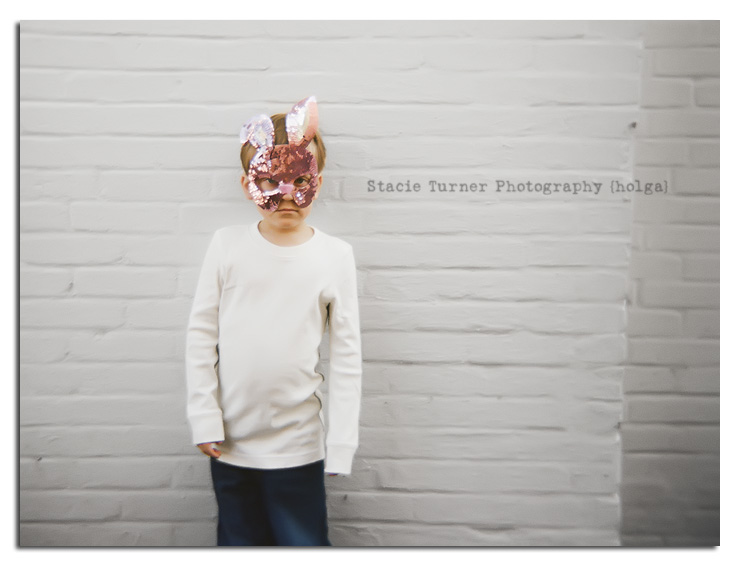 Stacie Turner creates holga portraits of children as part of her Connecticut children's portrait business.