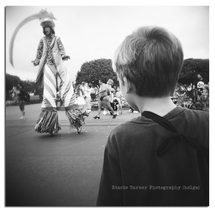 parade at Disney World via holga