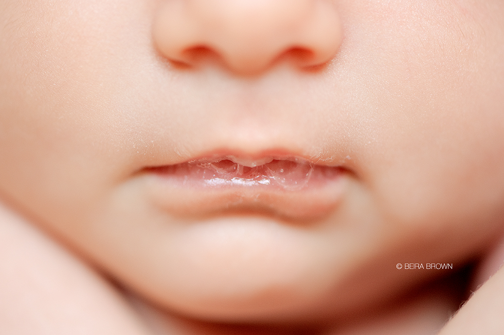 Baby thin lips
