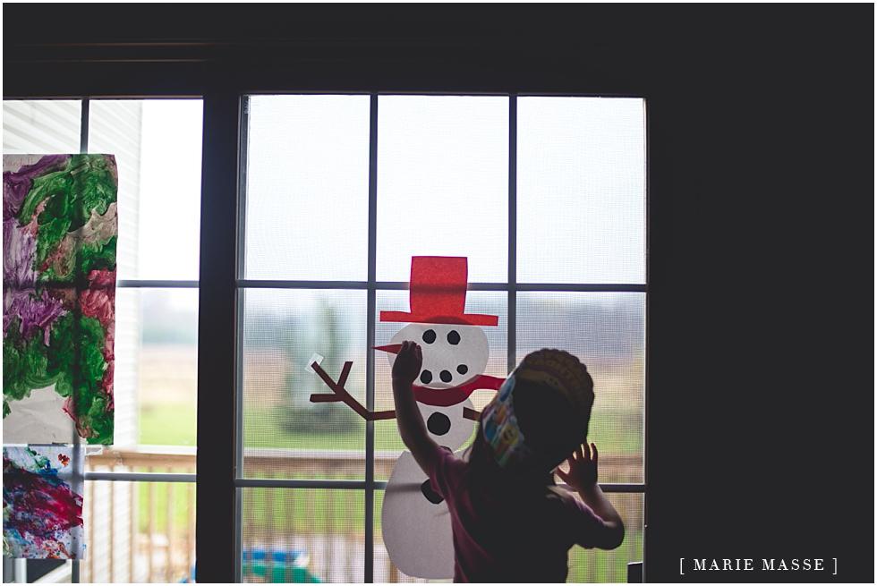 building an indoor snowman
