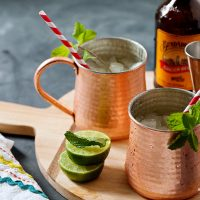 Moscow Mule Cocktail Drinks by Allison Jacobs food photography