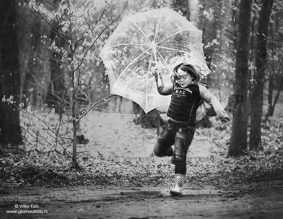 Rain Dance Everyday In Black And White By Willie Kers