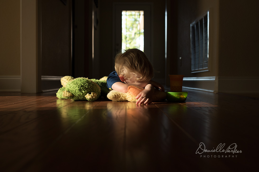 A Boy and in Toys in Morning Light   Lifestyle Photography