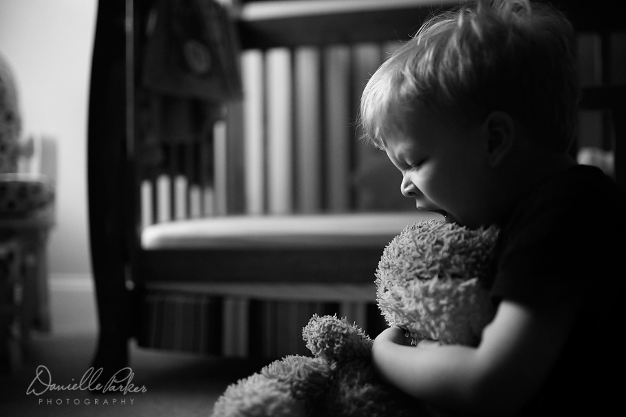 Little Boy's After Nap Yawn | Black and White Childhood Photography | Mobile Family Photographer