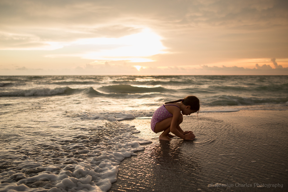 Venice-FL-Beach-at-Sunset-by-Lindsay-Moeser-of-Rosalyn-Charles-Photography