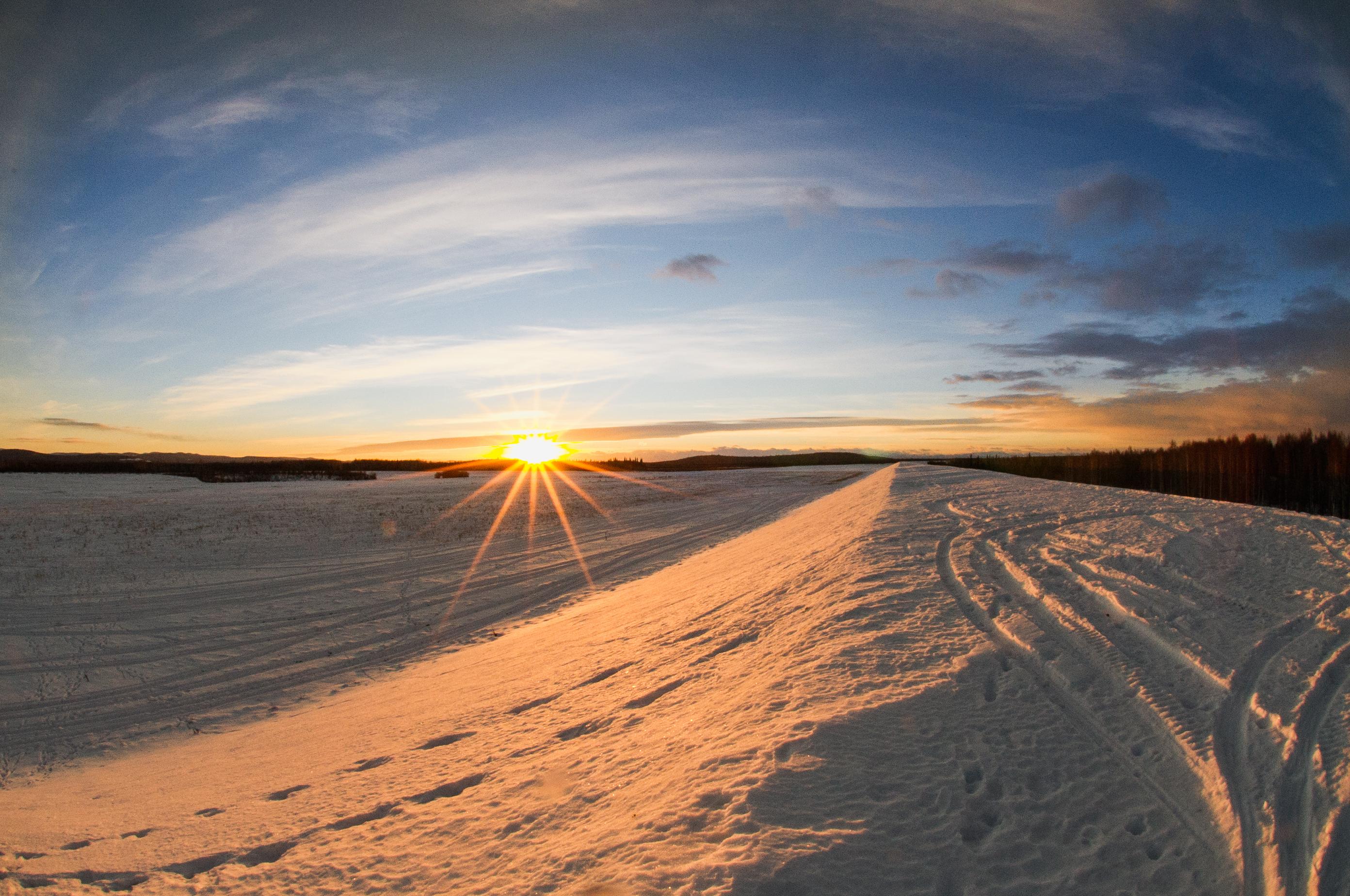 sunrise in North Pole, AK
