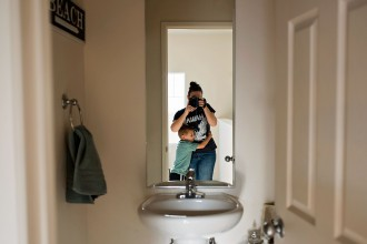 self-portrait-in-mirror-little-boy-hugging-his-mom-allison-gipson