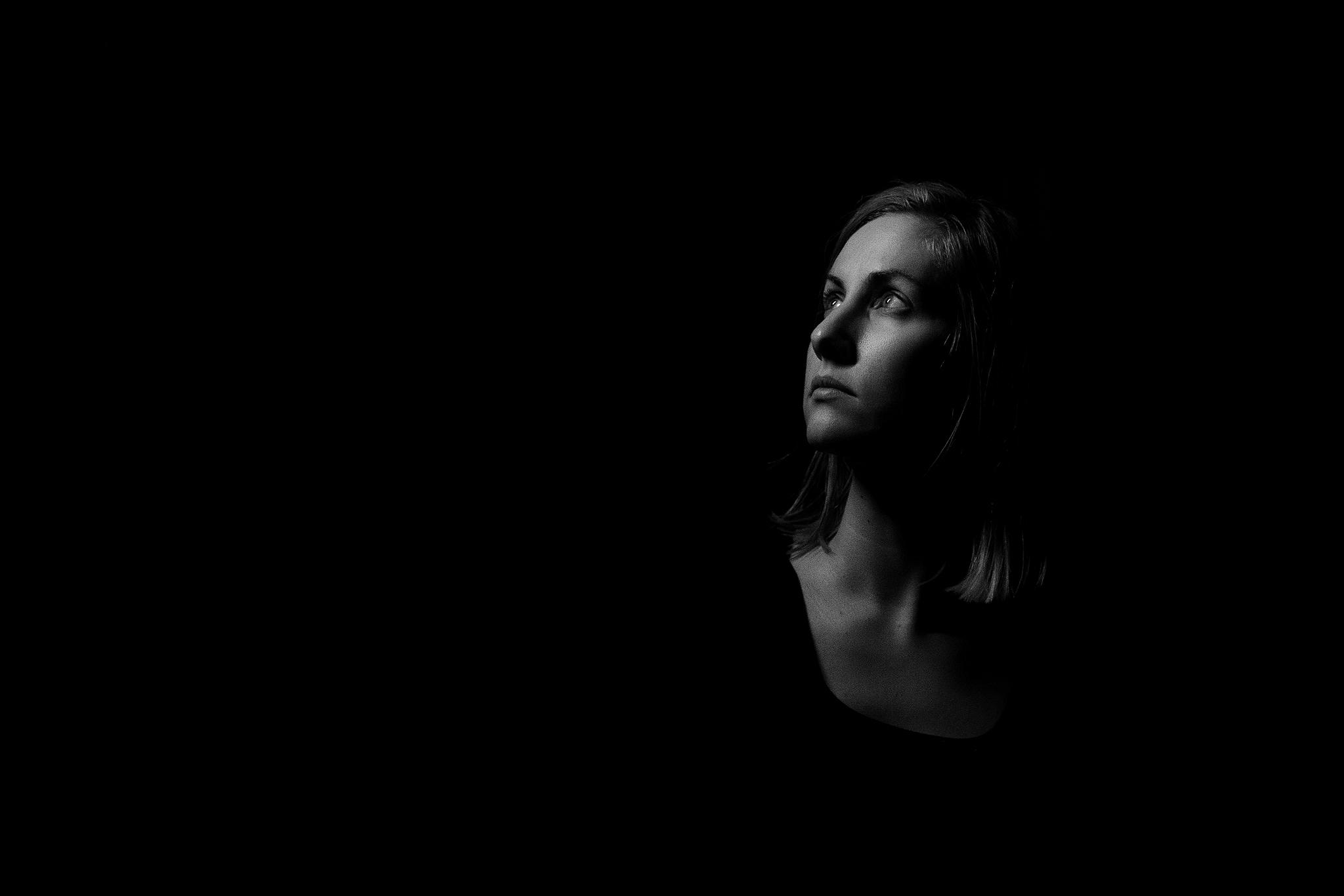 Monochromatic Self portrait Kristina Dominianni Middle Island Photographer