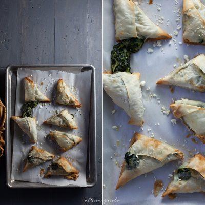 spanakopita food photography by allison jacobs