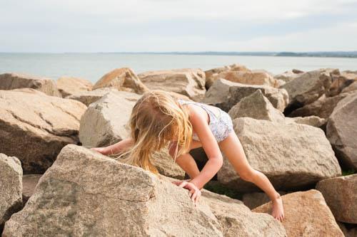 beach climbing
