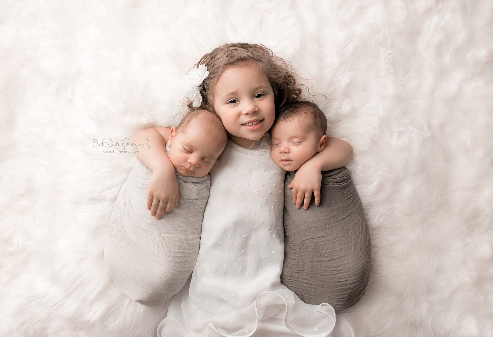 twin baby brothers - charlotte newborn photographer beth wade