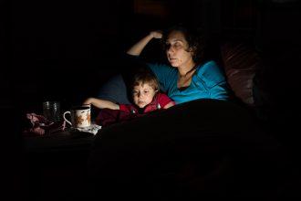 motherhood-self-portrait-late-night-with-sick-child-off-camera-flash-photography