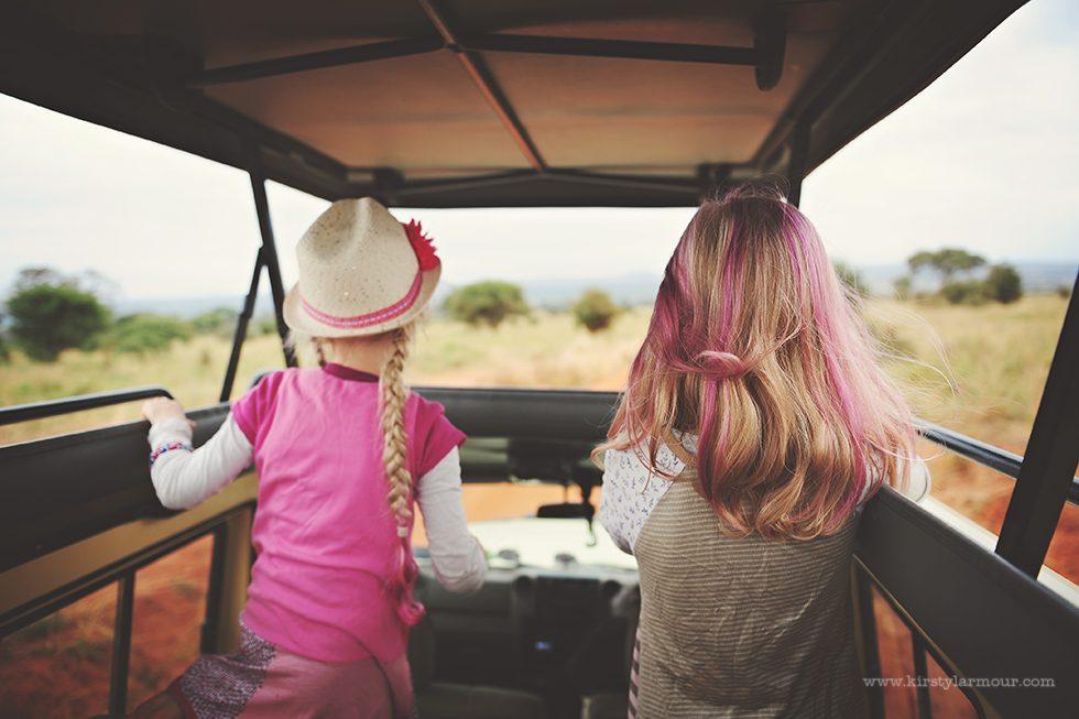 Safari jeeps in Africa