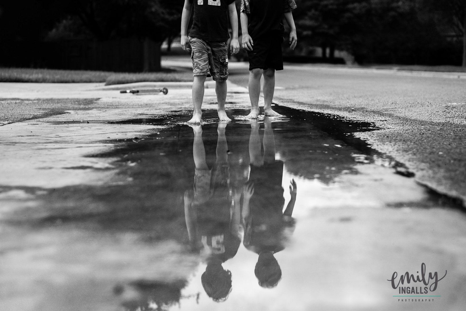 Barefoot puddle jumpin'