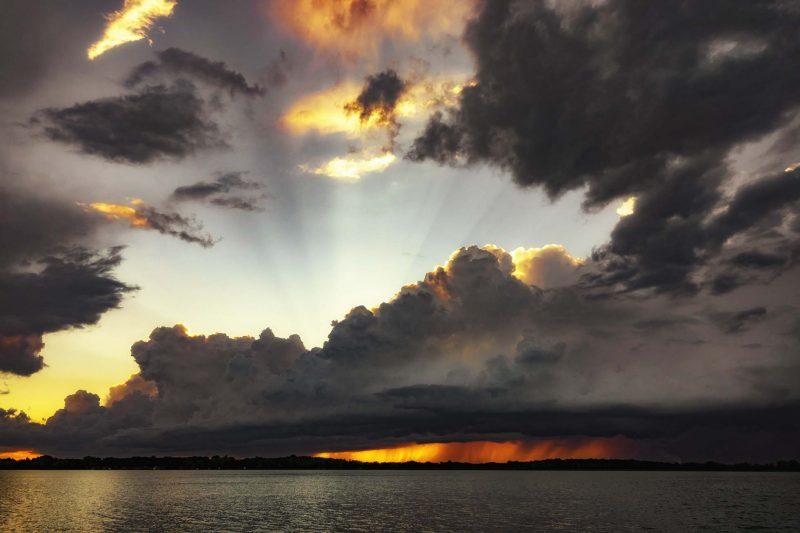 DP sunset meets storm