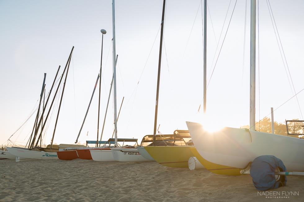 Beach Hobie Cats sunset  Nadeen Flynn photography