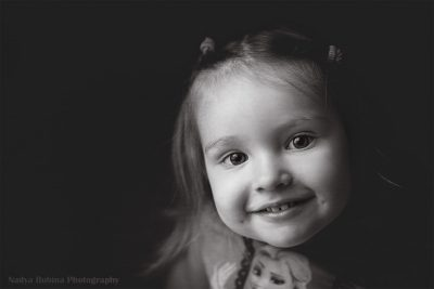 A lovely smile of my little daughter