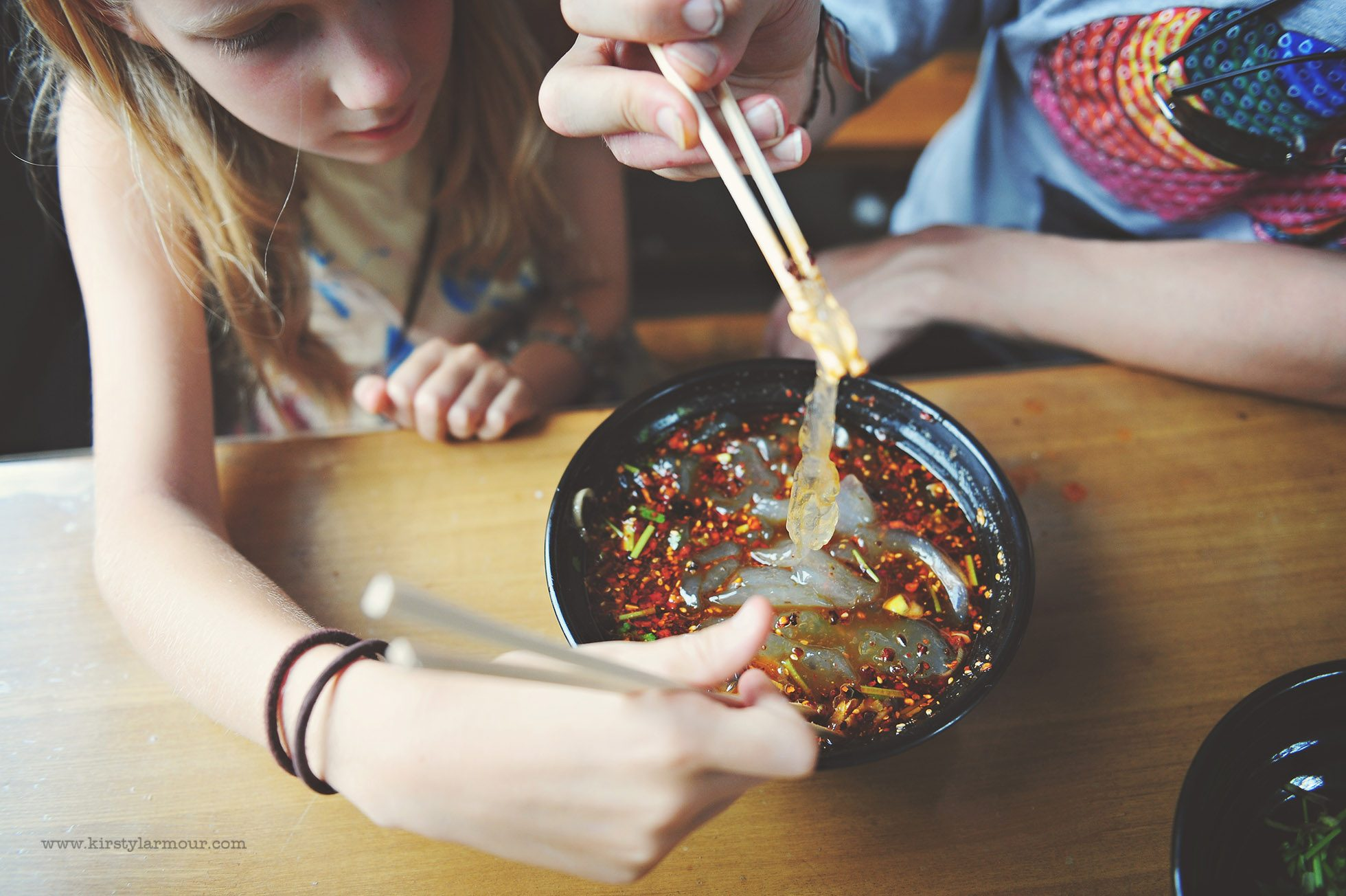 Spicy Shaanxi noodles in China by Kirsty Larmour