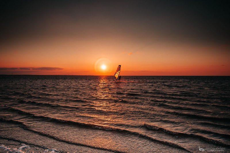 Sound Sunset gaggle photography