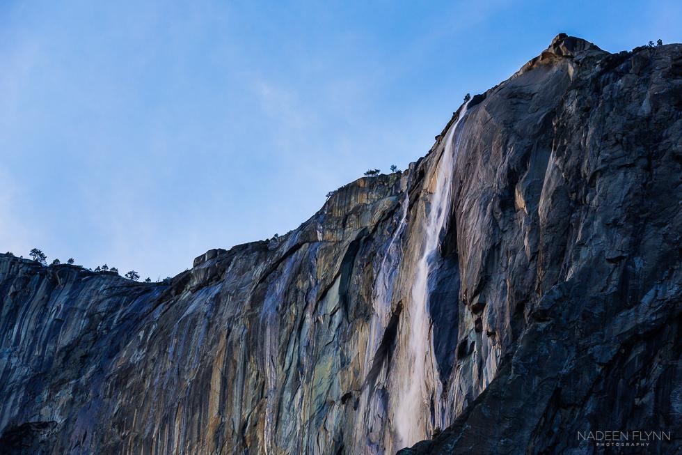 Horsetail Falls at Sunset by Nadeen Flynn