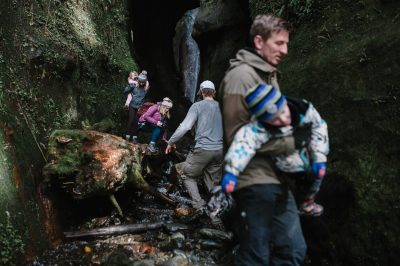 ebony-logins-clickin-moms-daily-project-wedding-victoria-bc-waterfall-adventure-carry-mom-dad-hike-sombrio