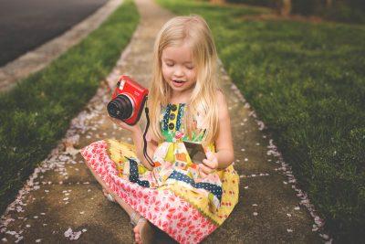 tiffany kelly girl with instax camera