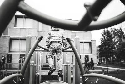 climbing at the playground boston Family photographer