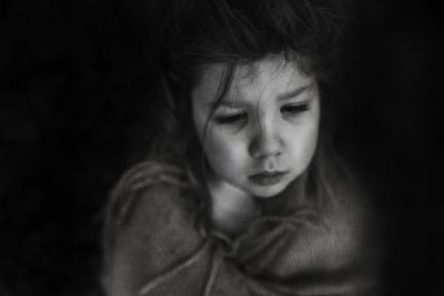 little girl sick wrapped up in a blanket boston Family photographer