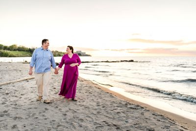 a walk on the beach - maternity photo