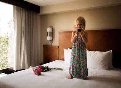 03 the reveal instax mini fujifilm girl hotel light lifestyle photography click pro daily edmond ok photographer oklahoma city natural light photographer kate luber photography