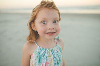 girl portrait on beach sunset tiffany kelly