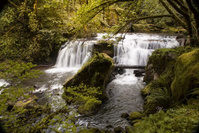 long exposure of the east fork falls on the Coquille River, Oregon
