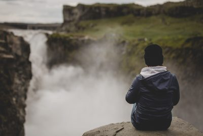 Soaking up the view at Dettifoss Waterfalls in Iceland by Tami Keehn
