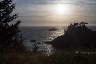 coastal sunset at Samuel Boardman, OR by Nadeen Flynn