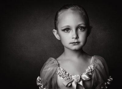 ballerina black and white portrait girl ballet dance headshot alien bee edmond ok photographer oklahoma city photographer kate luber photography