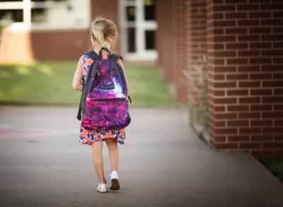 first day back to school kindergarten girl canon 135L edmond ok photographer oklahoma city natural light photographer kate luber photography