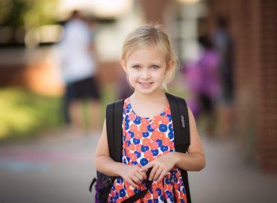 kindergarten back to school kindergarten girl canon 135L edmond ok photographer oklahoma city natural light photographer kate luber photography