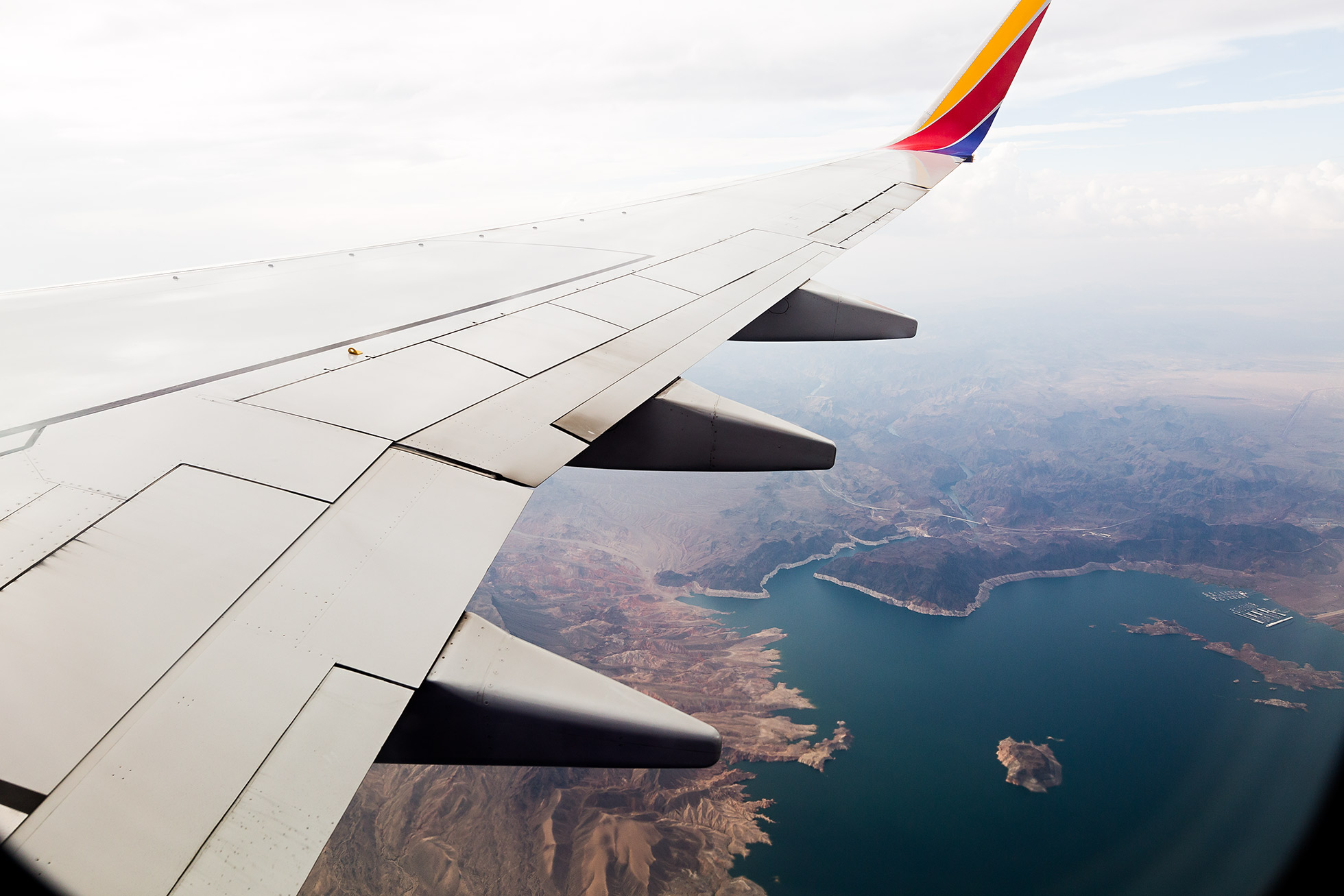 travel view from airplan