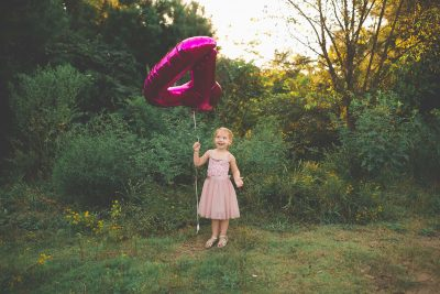 girl with 4 birthday balloon tiffany kelly