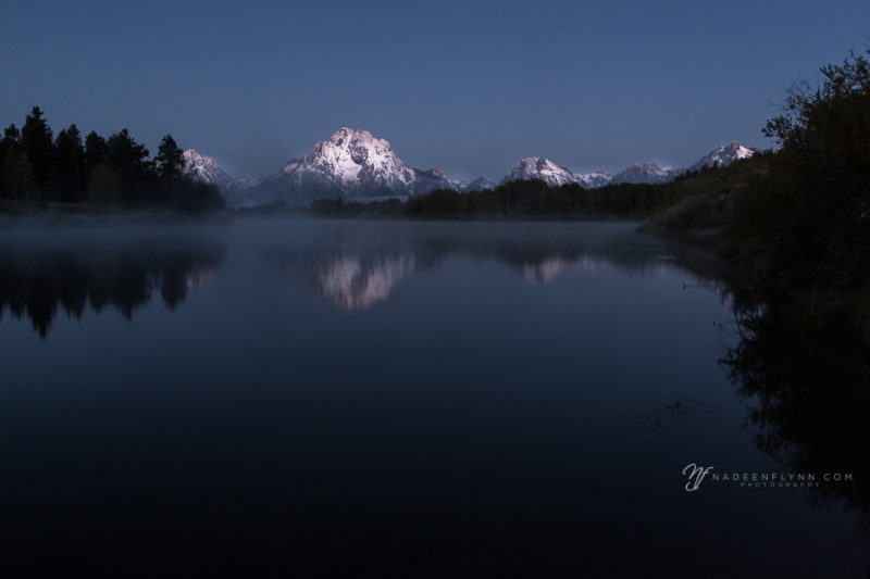 blue hour in the Tetons at Oxbow Bend