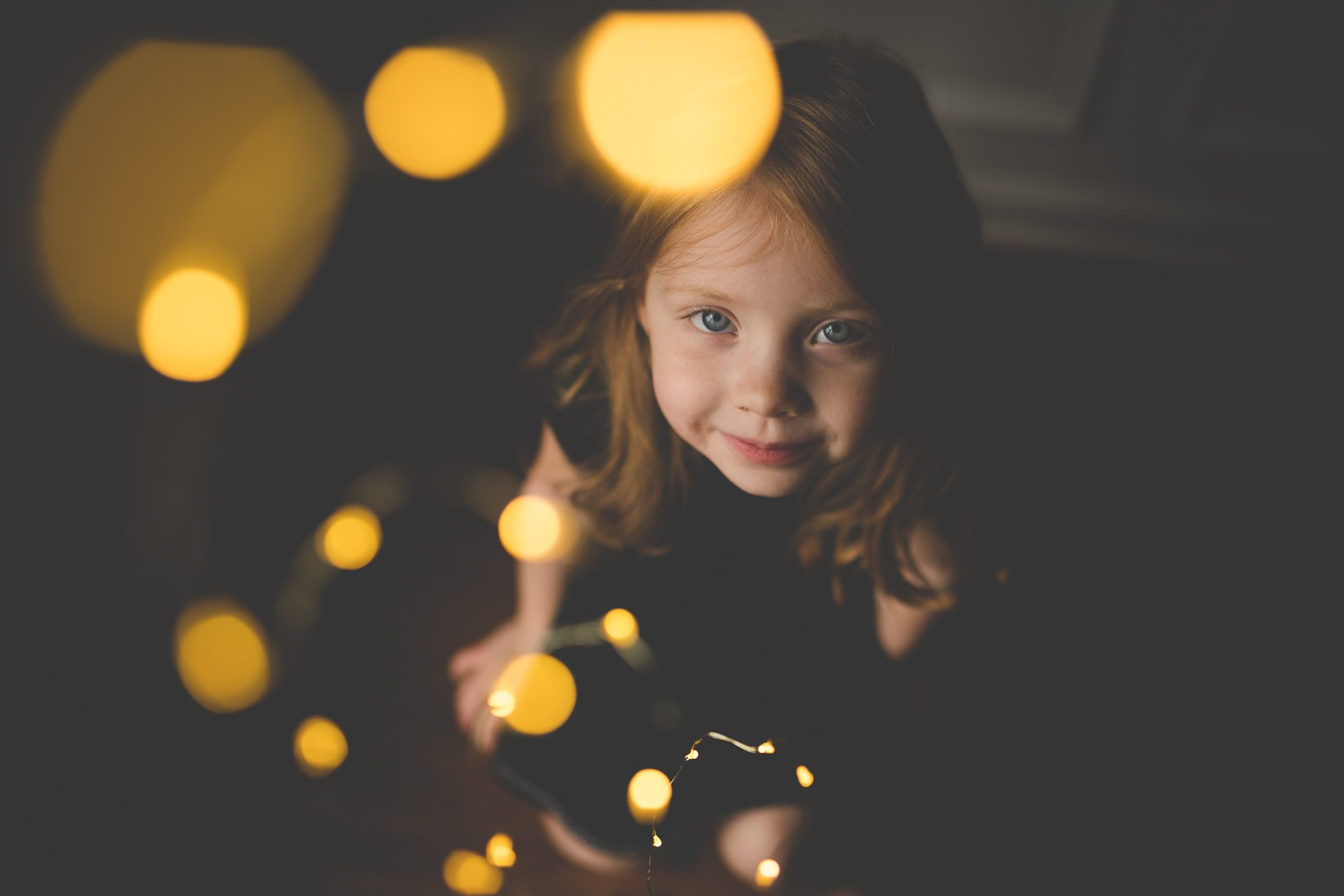 warm fairy lights bokeh portrait tiffany kelly