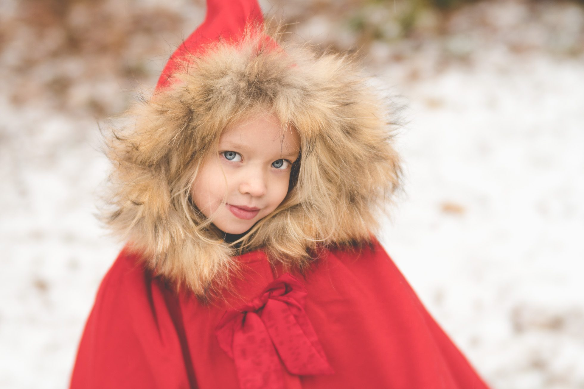 little red riding hood in snow tiffany kelly