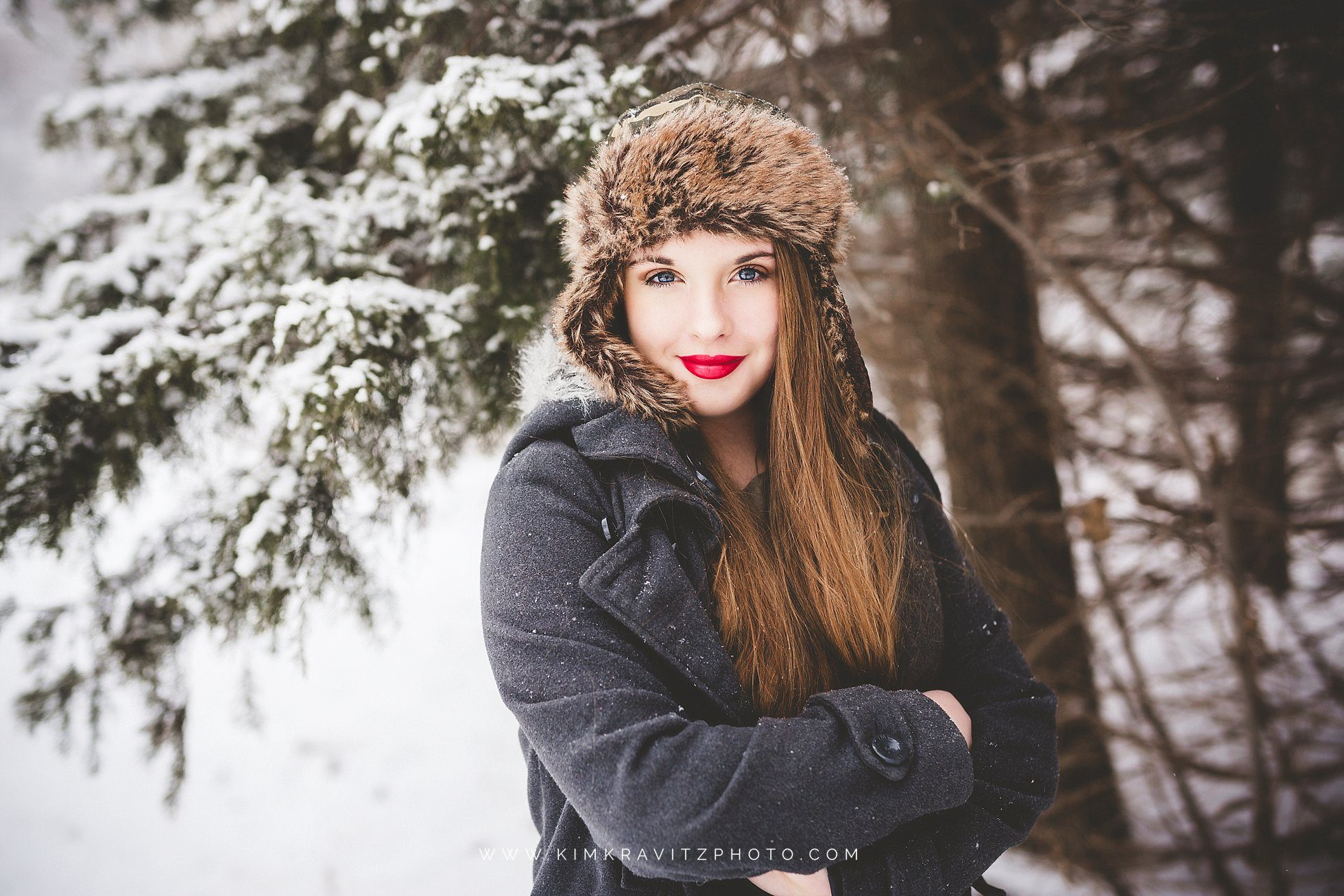 Snow Day Girard Kansas Kim Kravitz Red Lip Stick