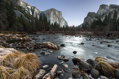 Yosemite Valley View during blue hour