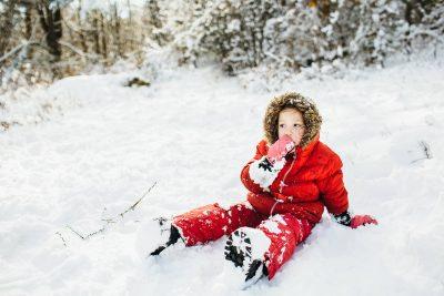 Taking a break in the snow