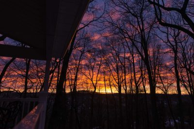 sunrise from the porch