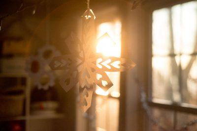 homemade paper snowflake decoration