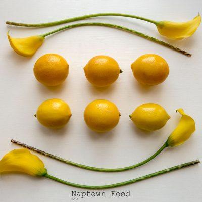 Lemons and Lilies Danielle Lundberg flatlay flat lay calla lilies meyer lemons green yellow still life pretty naptown food b