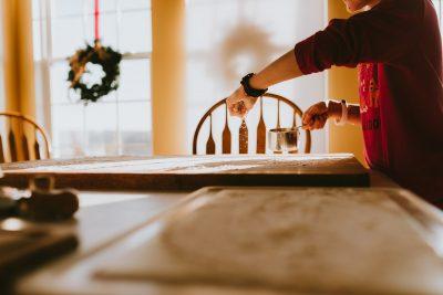 girl baking pasta