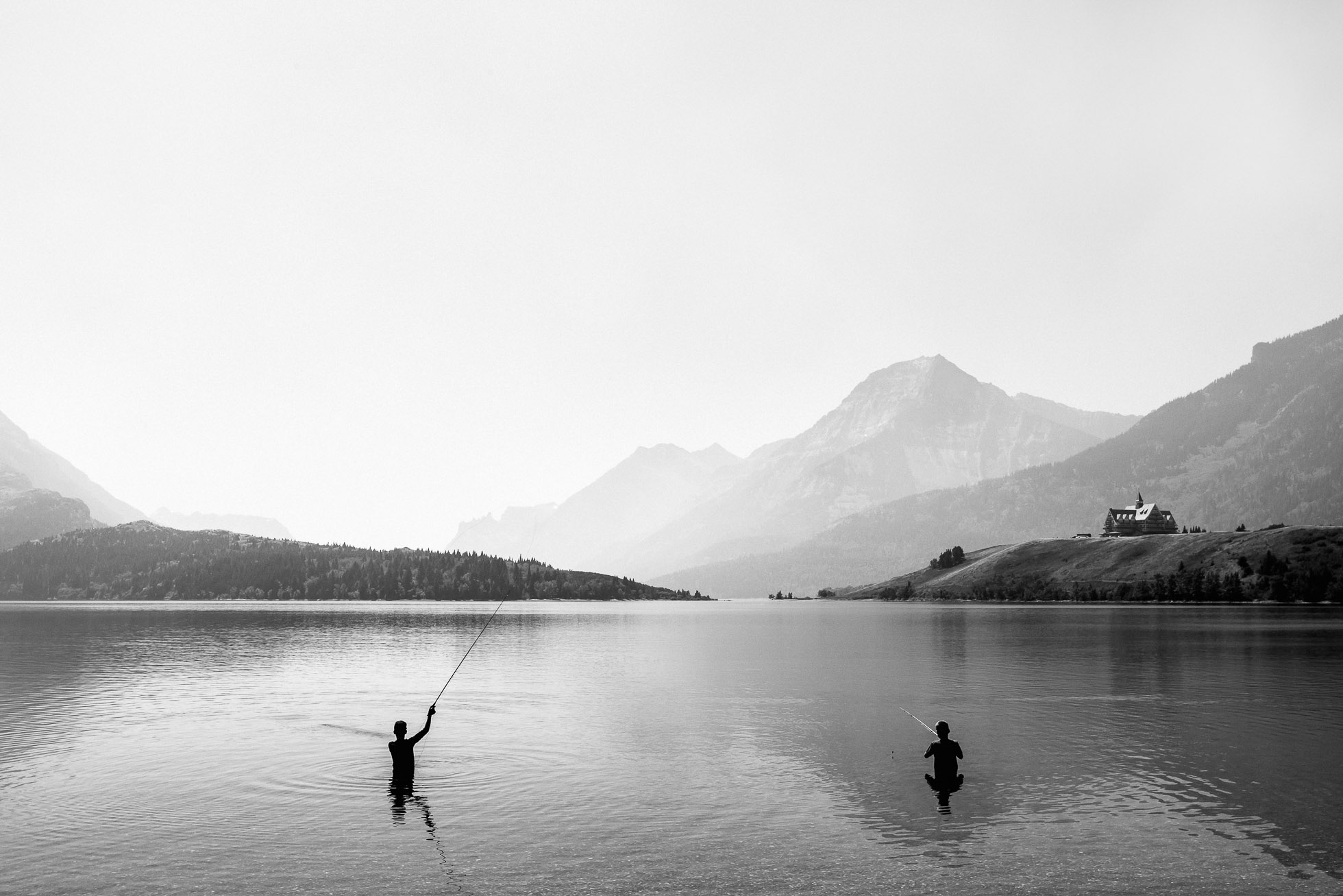 Amy Miller Photography brothers fishing in waterton lakes by amy miller